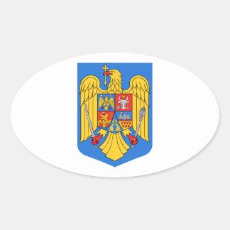 Het Wapenschild van Roemenië Ovale Sticker