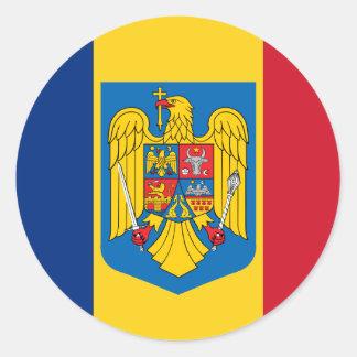 Het Wapenschild van Roemenië, Republiek de Kongo Ronde Sticker