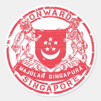 Het Wapenschild van Singapore Ronde Sticker