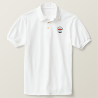 Het wapenschild van Trinitarians Geborduurd Poloshirt