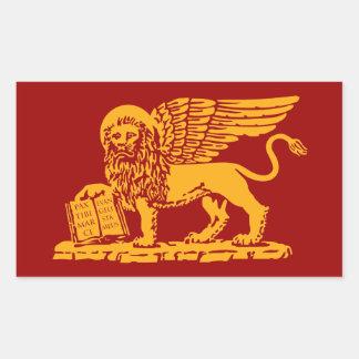 Het Wapenschild van Venetië Rechthoekige Sticker