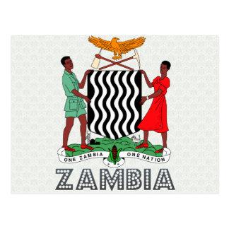 Het Wapenschild van Zambia Briefkaart