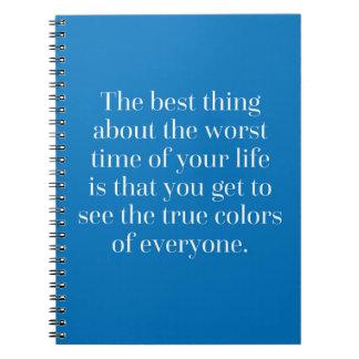 Het ware Citaat van Kleuren Notitieboek