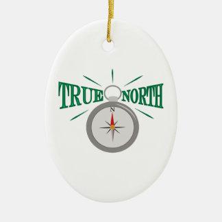 Het ware Noorden Keramisch Ovaal Ornament