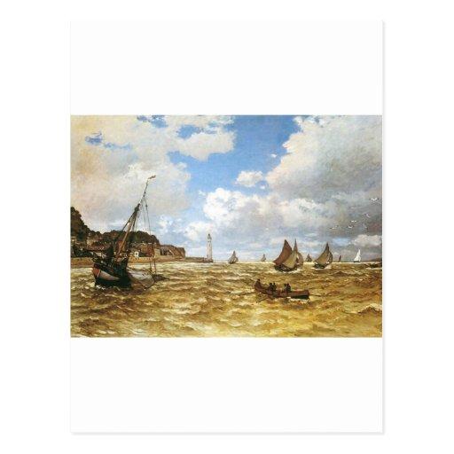 Het water verscheept de Mond van Monet van Boten v Wenskaart