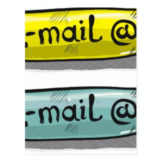 Het Web Knoop van de e-mail van de Schets Briefkaart