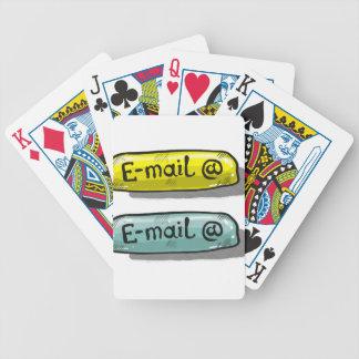 Het Web Knoop van de e-mail van de Schets Pak Kaarten