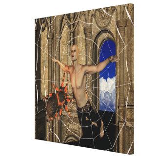 Het Web van spinnen Canvas Afdruk