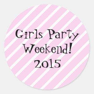 Het Weekend van de Partij van meisjes Ronde Sticker