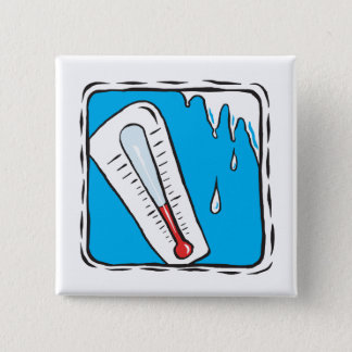 Het Weer van de winter Vierkante Button 5,1 Cm