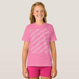 Het wees Zwarte patroon van Leda van het Project T Shirt