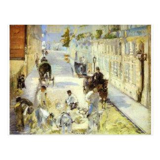 Het weg-menders, Rue DE Berne door Edouard Manet Briefkaart