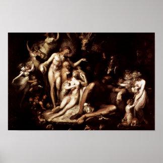 Het Wekken van de Fee Koningin Titania door Füssli Poster