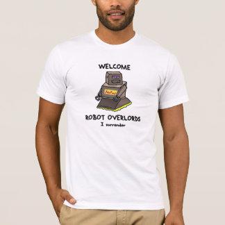 Het welkom gedrukte t-shirt van de Robot Overlords