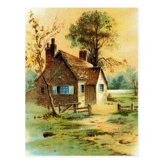 Het welkom heten Plattelandshuisje Briefkaart