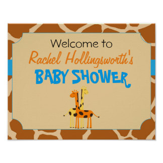 Het Welkome Poster van het blauwe & Oranje Baby