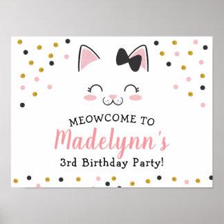 Het Welkome Teken van de Kat van het kat Poster
