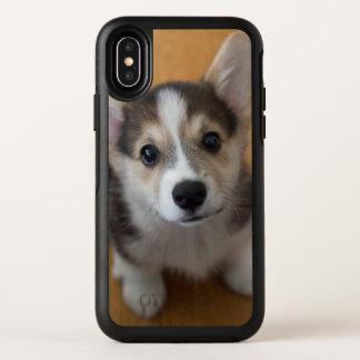 Het Welse Corgi Puppy van Pembroke 3 OtterBox Symmetry iPhone X Hoesje