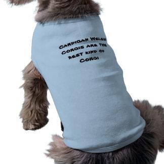 Het Welse Overhemd Corgi van de cardigan Mouwloos Hondenshirt