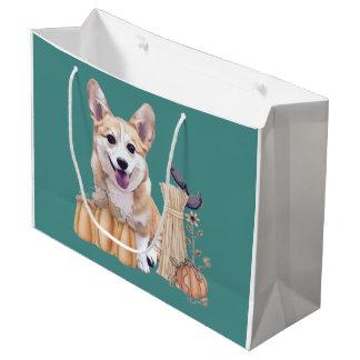 Het Welse Puppy Corgi van de vakantie met Pompoen Groot Cadeauzakje