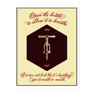 """Het Wenskaart """"open van de Fles Wijn"""" - Briefkaart"""