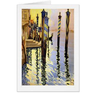 Het Wenskaart van de Bezinningen van Venetië