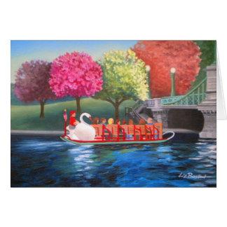 Het Wenskaart van de Boot van de zwaan door Liz