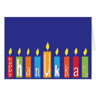 """Het Wenskaart van de Chanoeka/Envelop de """"Kaarsen"""