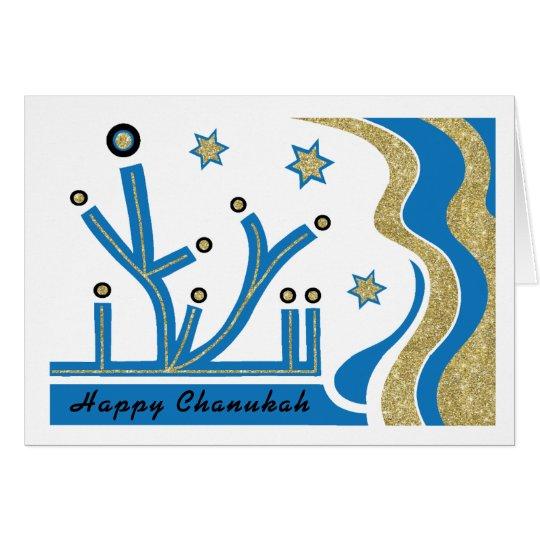 Het Wenskaart van de Chanoeka/van de Chanoeka met