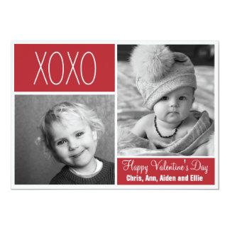 Het Wenskaart van de Collage van de Foto XOXO 12,7x17,8 Uitnodiging Kaart