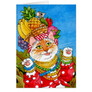Het wenskaart van de de kattenverjaardag van