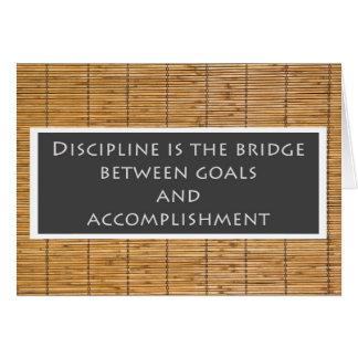 Het Wenskaart van de discipline
