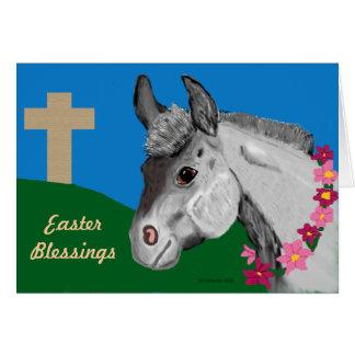 Het Wenskaart van de Ezel van de Zegen van Pasen