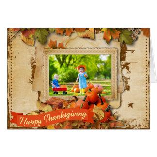 Het Wenskaart van de Foto van thanksgiving day