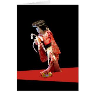 Het Wenskaart van de geisha