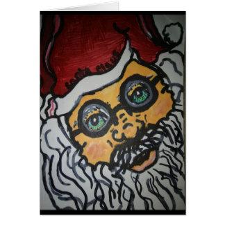 Het Wenskaart van de kerstman