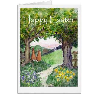 Het Wenskaart van de Konijnen van Pasen