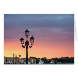Het Wenskaart van de Lamp van Venetië Italië