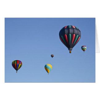 Het Wenskaart van de Lancering van de Ballon van