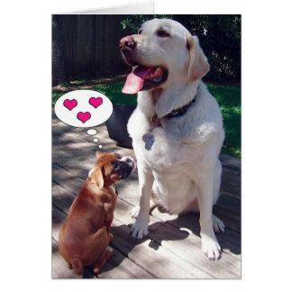 Het Wenskaart van de liefde (met Honden)