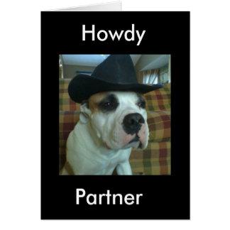 Het Wenskaart van de Partner van Howdy