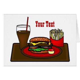 Het Wenskaart van de Schotel van de hamburger