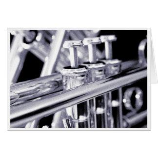 Het Wenskaart van de trompet