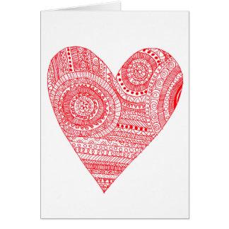 Het Wenskaart van de Valentijnsdag van Zentangle