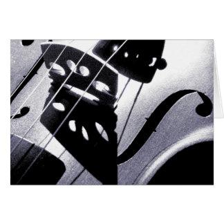 Het Wenskaart van de viool