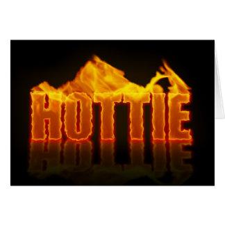Het Wenskaart van de Vlammen van Hottie