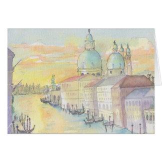 Het Wenskaart van de Waterverf van Venetië van de