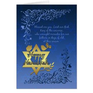 Het Wenskaart van de Zegen van de Chanoeka -
