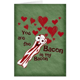 Het Wenskaart van grappig Valentijn van het Bacon