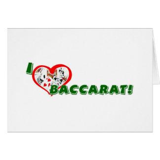 Het wenskaart van het baccarat